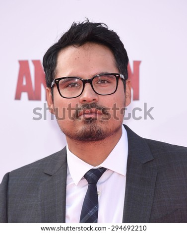 "LOS ANGELES - JUN 29:  Michael Pena arrives to the ""Ant-Man"" World Premiere  on June 29, 2015 in Hollywood, CA                 - stock photo"
