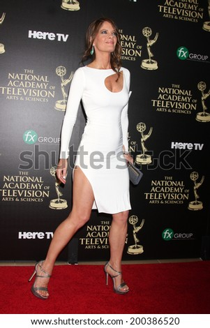 LOS ANGELES - JUN 22:  Michelle Stafford at the 2014 Daytime Emmy Awards Arrivals at the Beverly Hilton Hotel on June 22, 2014 in Beverly Hills, CA - stock photo