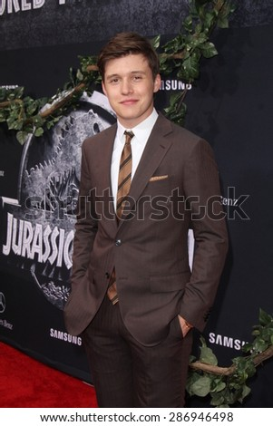 """LOS ANGELES - JUN 9:  Nick Robinson at the """"Jurassic World"""" World Premiere at the Dolby Theater, Hollywood & Highland on June 9, 2015 in Los Angeles, CA  - stock photo"""