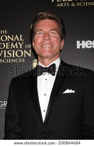 LOS ANGELES - JUN 22:  Peter Bergman at the 2014 Daytime Emmy Awards Arrivals at the Beverly Hilton Hotel on June 22, 2014 in Beverly Hills, CA - stock photo