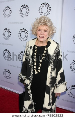 LOS ANGELES - JUN 7:  Phyllis Diller arrives at the Debbie Reynolds Hollywood Memorabilia Collection Auction & Auction Preview at Paley Center For Media on June 7, 2011 in Beverly Hills, CA - stock photo
