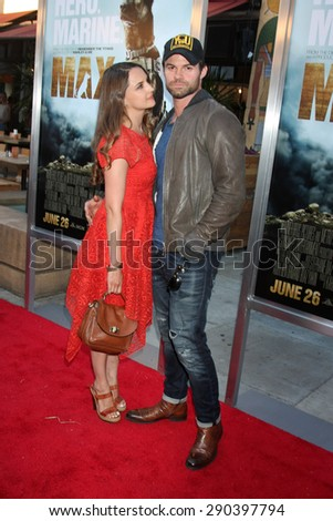 """LOS ANGELES - JUN 23:  Rachael Leigh Cook, Daniel Gillies at the """"Max""""  Premiere  at the Egyptian Theater on June 23, 2015 in Los Angeles, CA - stock photo"""
