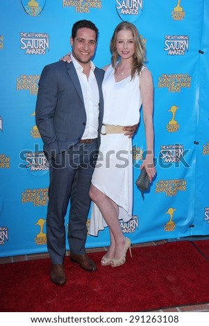 LOS ANGELES - JUN 25:  Rachel Nichols at the 41st Annual Saturn Awards Arrivals at the The Castaways on June 25, 2015 in Burbank, CA - stock photo