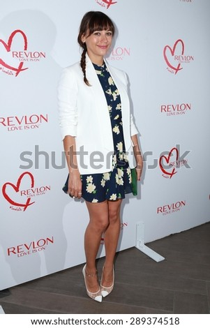LOS ANGELES - JUN 3:  Rashida Jones at the Halle Berry And Revlon Celebrate Achievements In Cancer Research at the Four Seasons Hotel on June 3, 2015 in Los Angeles, CA - stock photo