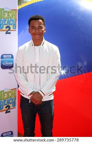 "LOS ANGELES - JUN 22:  Raymond Cham, Jr at the ""Teen Beach 2"" Premiere  at the Walt Disney Studios on June 22, 2015 in Burbank, CA - stock photo"