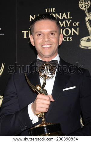 LOS ANGELES - JUN 22:  Rodner Figueroa at the 2014 Daytime Emmy Awards Press Room at the Beverly Hilton Hotel on June 22, 2014 in Beverly Hills, CA - stock photo