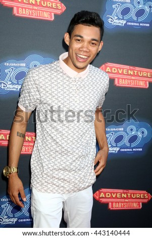 LOS ANGELES - JUN 23:  Roshon Fegan at the 100th DCOM Adventures In Babysitting LA Premiere Screening at the Directors Guild of America on June 23, 2016 in Los Angeles, CA - stock photo