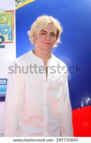 "LOS ANGELES - JUN 22:  Ross Lynch at the ""Teen Beach 2"" Premiere  at the Walt Disney Studios on June 22, 2015 in Burbank, CA - stock photo"