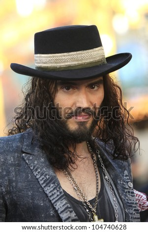 LOS ANGELES - JUN 8: Russell Brand at the 'Rock of Ages' Los Angeles premiere held at Grauman's Chinese Theater on June 8, 2012 in Los Angeles, California - stock photo