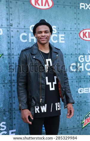 LOS ANGELES - JUN 6:  Russell Westbrook at the Guys Choice Awards 2015 at the Culver City on June 6, 2015 in Sony Studios, CA - stock photo