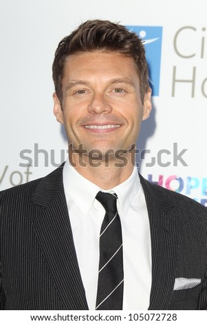 LOS ANGELES - JUN 12:  Ryan Seacrest arrives at the City of Hope's Music And Entertainment Industry Group  Event at The Geffen Contemporary at MOCA on June 12, 2012 in Los Angeles, CA