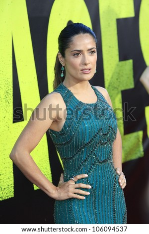 LOS ANGELES - JUN 25: Salma Hayek at the premiere of Universal Pictures' 'Savages' at Westwood Village on June 25, 2012 in Los Angeles, California