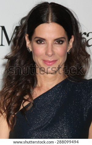 LOS ANGELES - JUN 16:  Sandra Bullock at the Women In Film 2015 Crystal + Lucy Awards at the Century Plaza Hotel on June 16, 2015 in Century City, CA - stock photo