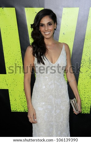 "LOS ANGELES - JUN 25:  Sandra Echeverria arrives at the ""Savages"" Premiere at Village Theater on June 25, 2012 in Westwood, CA"