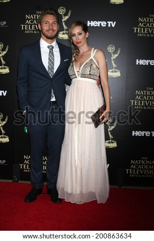 LOS ANGELES - JUN 22:  Scott Clifton at the 2014 Daytime Emmy Awards Arrivals at the Beverly Hilton Hotel on June 22, 2014 in Beverly Hills, CA - stock photo