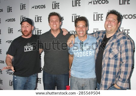 LOS ANGELES - JUN 8:  Scott Grimes, Bob Guiney, Adrian Pasdar, Greg Grunberg at the LA Launch Of LYCOS Life at the Banned From TV Jam Space on June 8, 2015 in North Hollywood, CA