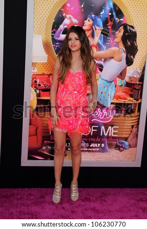 "LOS ANGELES - JUN 26:  Selena Gomez arrives at the ""Katy Perry: Part Of Me"" Premiere at Graumans Chinese Theater on June 26, 2012 in Los Angeles, CA - stock photo"