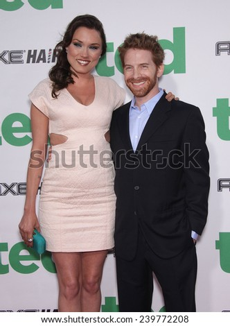 "LOS ANGELES - JUN 21:  SETH GREEN & CLARE GRANT arrives to the ""Ted"" World Premiere  on June 21, 2012 in Hollywood, CA"