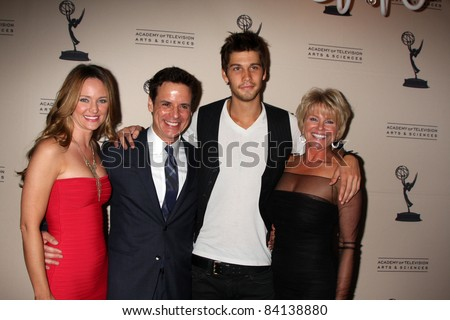 LOS ANGELES - JUN 16: Sharon Case, Christian LeBlanc, Casey Jon Deidrick, Judi Evans at the Academy of Television Arts and Sciences Daytime Emmy Nominee Reception on June 16, 2011 in Beverly Hills, CA