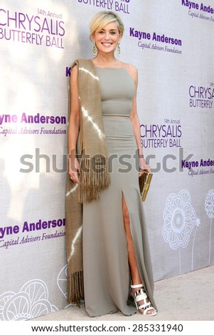LOS ANGELES - JUN 6:  Sharon Stone at the 14th Annual Chrysalis Butterfly Ball at the Private Residence on June 6, 2015 in Los Angeles, CA - stock photo
