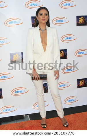 LOS ANGELES - JUN 6: Shay Mitchell at the Lupus LA Orange Ball And A Night Of Superheroes at the Fox Studio lot on June 6, 2015 in Los Angeles, California - stock photo