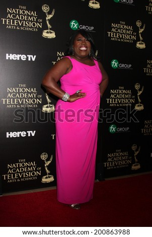 LOS ANGELES - JUN 22:  Sheryl Underwood at the 2014 Daytime Emmy Awards Arrivals at the Beverly Hilton Hotel on June 22, 2014 in Beverly Hills, CA - stock photo