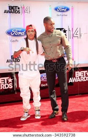 LOS ANGELES - JUN 29:  Siya, Tank at the 2014 BET Awards - Arrivals at the Nokia Theater at LA Live on June 29, 2014 in Los Angeles, CA - stock photo
