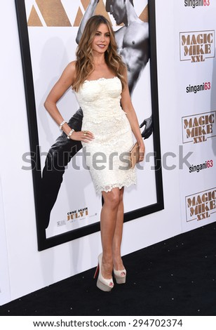 "LOS ANGELES - JUN 25:  Sofia Vergara arrives to the ""Magic Mike XXL"" World Premiere  on June 25, 2015 in Hollywood, CA                 - stock photo"