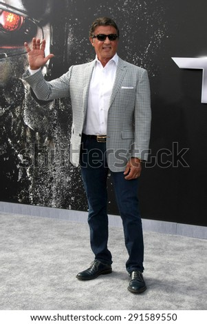 "LOS ANGELES - JUN 28:  Sylvester Stallone at the ""Terminator Genisys"" Los Angeles Premiere at the Dolby Theater on June 28, 2015 in Los Angeles, CA - stock photo"