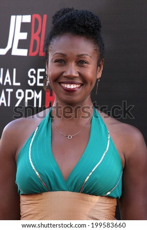 """LOS ANGELES - JUN 17:  Tanya Wright at the HBO's """"True Blood"""" Season 7 Premiere Screening at the TCL Chinese Theater on June 17, 2014 in Los Angeles, CA - stock photo"""