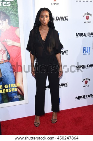 "LOS ANGELES - JUN 29:  Tasha Smith arrives to the ""Mike & Dave Need Wedding Dates"" Los Angeles Premiere on June 29, 2016 in Hollywood, CA                 - stock photo"
