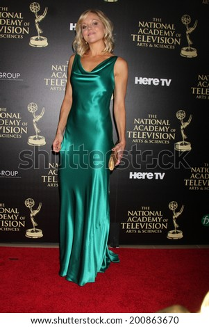 LOS ANGELES - JUN 22:  TIffany Coyne at the 2014 Daytime Emmy Awards Arrivals at the Beverly Hilton Hotel on June 22, 2014 in Beverly Hills, CA - stock photo