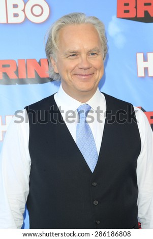"LOS ANGELES - JUN 8:  Tim Robbins at the HBO's ""The Brink"" Premiere at the Paramount Studios on June 8, 2015 in Los Angeles, CA - stock photo"