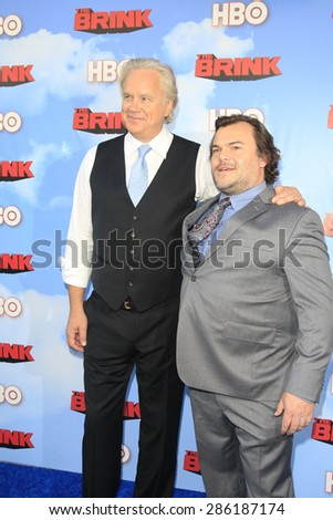 "LOS ANGELES - JUN 8:  Tim Robbins, Jack Black at the HBO's ""The Brink"" Premiere at the Paramount Studios on June 8, 2015 in Los Angeles, CA - stock photo"