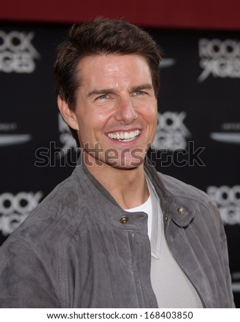 "LOS ANGELES - JUN 08:  TOM CRUISE arrives to the ""Rock of Ages"" World Premiere  on June 08, 2012 in Hollywood, CA                 - stock photo"