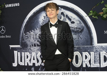 "LOS ANGELES - JUN 9:  Ty Simpkins at the ""Jurassic World"" World Premiere at the Dolby Theater, Hollywood & Highland on June 9, 2015 in Los Angeles, CA