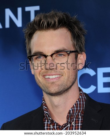 LOS ANGELES - JUN 06:  Tyler Hilton arrives to the 'Extant' Premiere Party  on June 06, 2014 in Los Angeles, CA                 - stock photo