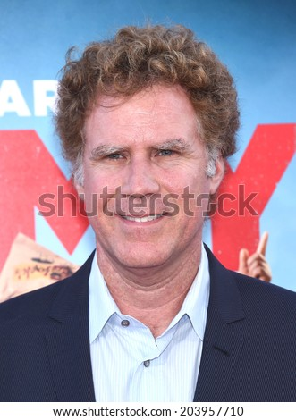 "LOS ANGELES - JUN 30:  Will Ferrell arrives to the ""Tammy"" Los Angeles Premiere  on June 30, 2014 in Hollywood, CA                 - stock photo"