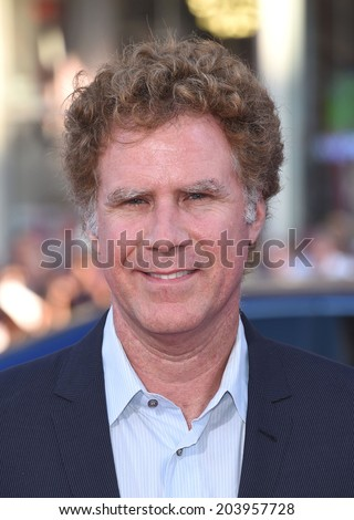 """LOS ANGELES - JUN 30:  Will Ferrell arrives to the """"Tammy"""" Los Angeles Premiere  on June 30, 2014 in Hollywood, CA                 - stock photo"""