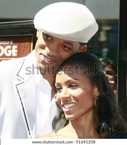 LOS ANGELES - JUN 14: Will Smith and Jada Pinkett Smith at the world premiere of 'Kit Kittredge: An American Girl' at the Grove in Los Angeles, California on 14 June 2008 - stock photo