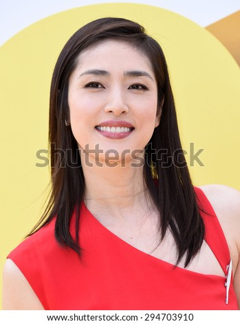 "LOS ANGELES - JUN 27:  Yuki Amami arrives to the ""Minions"" Los Angeles Premiere  on June 27, 2015 in Hollywood, CA                 - stock photo"