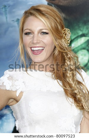 LOS ANGELES - JUNE 15: Blake Lively at the premiere of Warner Bros. Pictures' 'Green Lantern' held at Grauman's Chinese Theatre in Los Angeles,CA on June 15, 2011. - stock photo