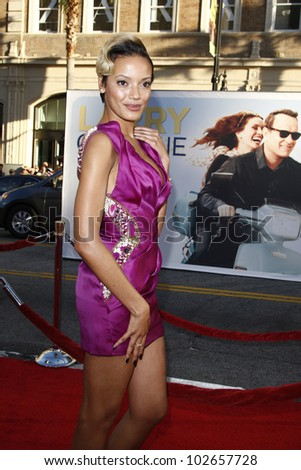 LOS ANGELES - JUNE 27: Selita Ebanks arrives at the Premiere of Universal Pictures' 'Larry Crowne' at Grauman's Chinese Theatre on June 27, 2011 in Los Angeles, California - stock photo