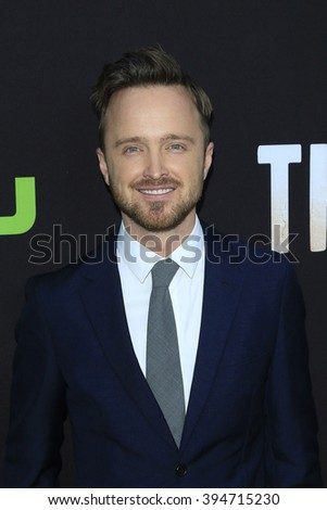 LOS ANGELES - MAR 21: Aaron Paul at the Premiere of 'The Path' at Arclight Hollywood on March 21, 2016 in Los Angeles, California - stock photo