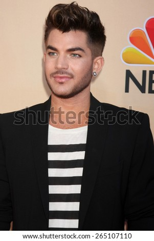 LOS ANGELES - MAR 29:  Adam Lambert at the 2015 iHeartRadio Music Awards at the Shrine Auditorium on March 29, 2015 in Los Angeles, CA - stock photo