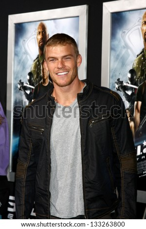 """LOS ANGELES - MAR 28:  Alan Ritchson arrives at the """"G.I. Joe: Retaliation""""  LA Premiere at the Chinese Theater on March 28, 2013 in Los Angeles, CA - stock photo"""