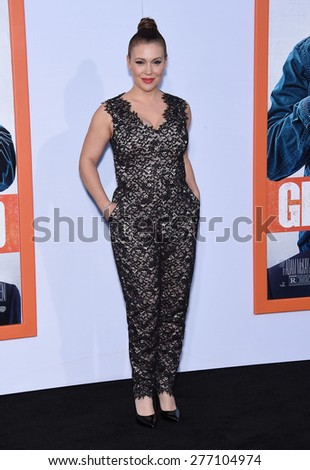 "LOS ANGELES - MAR 25:  Alyssa Milano arrives to the ""Get Hard"" Los Angeles Premiere  on March 25, 2015 in Hollywood, CA                 - stock photo"