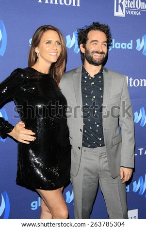 LOS ANGELES - MAR 21:  Amy Landecker at the 26th Annual GLAAD Media Awards at the Beverly Hilton Hotel on March 21, 2015 in Beverly Hills, CA - stock photo