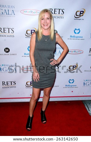 LOS ANGELES - MAR 18:  Angela Kinsey at the Norma Jean Gala at the Taglyan Complex on March 18, 2015 in Los Angeles, CA - stock photo