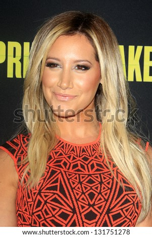 "LOS ANGELES - MAR 14:  Ashley Tisdale arrives at the 'Spring Breakers"" Premiere at the Arclight, Hollywood on March 14, 2013 in Los Angeles, CA - stock photo"